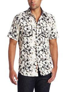 Robert Graham Men's Kaleidoscope Sport Shirt, Grey, Large
