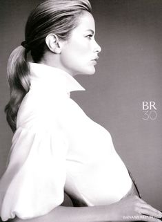 this shot is simple, elegant, regal - Carolyn Murphy for BR
