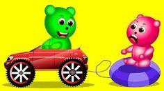 Mega Gummy Bear Banana Finger Family Rhyme For Kids   GummyBear - YouTube