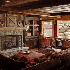 Images About Rustic Living Rooms On Pinterest Rustic Family Rooms