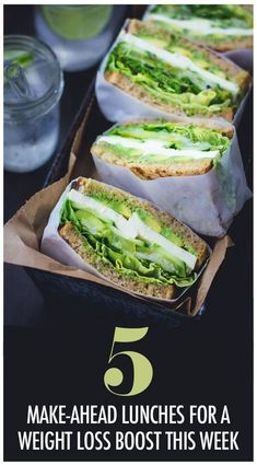 5 Healthy Make Ahead Lunches That'll Get You Through The Work Week and Give You a Weight Loss Boost! 5 Healthy Make Ahead Lunches That'll Get You Through The Work Week and Give You a Weight Loss Boost! Healthy Sandwiches, Delicious Sandwiches, Deli Sandwiches, Vegetarian Sandwiches, Dinner Sandwiches, Breakfast Sandwiches, Vegetarian Recipes, Cooking Recipes, Healthy Recipes
