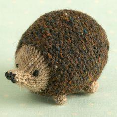 Knitted hedgehog pincushion