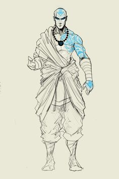 Great Fan Art I love the extra tattoo on his left shoulder. I don't think Aang would actually get another one, but it looks good.