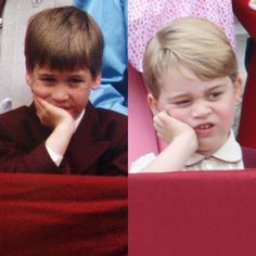 TODAY (@TODAYshow) on Twitter: Trooping the Colour-Prince William in 1988, Prince George in 2017