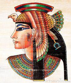 Pintura egípcia do papiro                                                                                                                                                                                 Mais