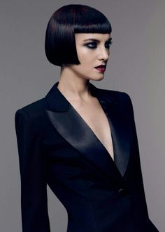 when boys and girls blend sartorial codes a decadent disruption takes place. The new collection from Sassoon Academy, plays with gender and. Beauty Photography, Roman Hair, Short Bob Styles, Bob Haircut With Bangs, Bob Bangs, Goth Hair, Short Bob Hairstyles, Black Hairstyles, Weave Hairstyles