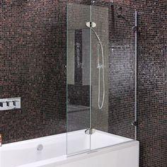 Fully frameless bath shower screen - right