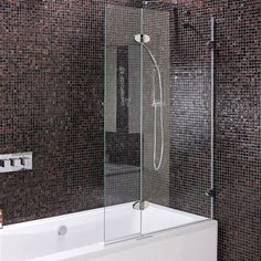 Fully frameless bath shower screen - right