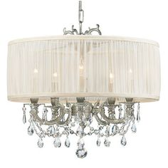 Brentwood Pewter Chandelier by Layla Grayce $798