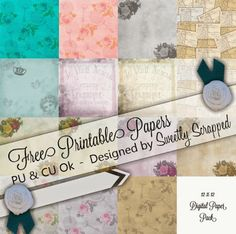 Sweetly Scrapped: {{{Free}}} Printable Paper Pack, 12 x 12