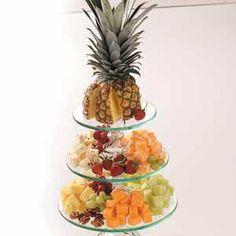 6) A good rule of thumb for making a fruit and cheese tray at home is to use at least three cheeses which should include one soft cheese such as brie which can be spread over crackers or bread,one semi soft such as blue or havarti,and one harder cheese such as good quality cheddar or gouda.