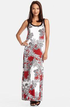 Karen Kane Crimson Paisley Tank Style Maxi Dress available at #Nordstrom