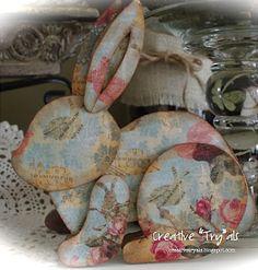 """Kreativní """"Try"""" als: Vytvořte si vlastní Decoupage karton Velikonoční zajíček"""