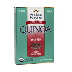 Know anything about red quinoa? Well, your taste buds are about to get a serious education. Grab a box of our organic Inca Red Quinoa and discover why we can't get enough of this wholesome, gluten-free ancient grain.