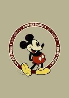 Mickey mouse vintage art print by cedric s touati Disney Mickey Mouse, Walt Disney, Mickey Love, Mickey Mouse And Friends, Disney Fun, Disney Facts, Disney Magic, Mickey Vintage, Mickey Mouse Wallpaper