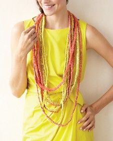 Martha-Dupioni Silk necklace--