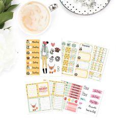 Abbie fashion girl planner sticker kit, december planner sticker kit, Christmas,  happy planner, erin condren, life planner, SK0015