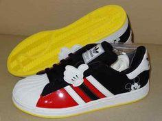 NIB-Adidas Superstar J Mickey Big Boys Sneakers $83.00