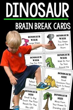 These are great for preschool and up. The PERFECT addition to any dinosaur unit or for any dinosaur lovers. Dinosaur themed gross motor is fun for everyone! Dinosaur Crafts Kids, Dinosaur Classroom, Dinosaur Theme Preschool, Preschool Themes, Dinosaur Dinosaur, Kids Crafts, Preschool Crafts, Gross Motor Activities, Therapy Activities
