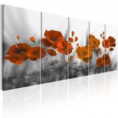 Poppies: Grey Background Fleur Orange, Canvas Prints, Art Prints, Display Design, Gray Background, Sign Design, Painting & Drawing, Poppies, Digital Prints