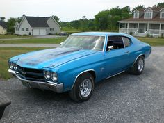 '70 Chevelle...first car I ever rode in :) They brought me home from the hospital in Mom's '70