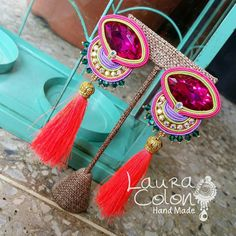 Encargo listo! 🌟 #earrings #handmade #accesorios #soutache #bylauracolonn