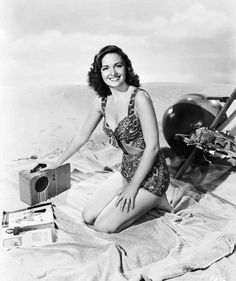 Donna Reed on the beach