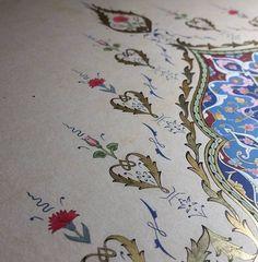 Turkish Art, Illuminated Manuscript, Islamic Art, Sacred Geometry, Tangled, Persian, Delicate, Design Inspiration, Space Images