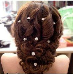 10pcs wedding hair pin Pearls Hair pins Clips Bridal Wedding Prom Pageant Bridsmaids