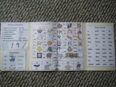 Kindergarten Writing Office - includes: editing checklist, digraphs, letters/sounds, vowels and sight words. Other side includes: numbers/number words, color words and topic ideas.