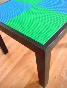Lego Table. Ikea Lack Table $10 AU and lego plates                                                                                                                                                                                 More