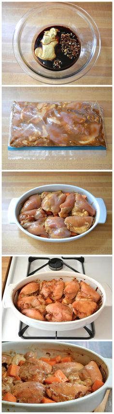 Soy Dijon Chicken Thighs with Sweet Potatoes Recipe