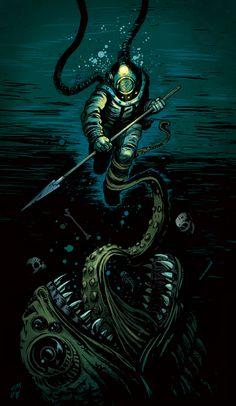 Deep, Dark, Dangerous SEA by ~oliverojm on deviantART