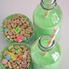 St. Pats breakfast idea to go along with their green eggs!