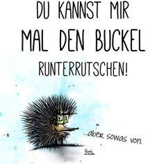 Du kannst mir mal den #Buckel #runterrutschen ... aber sowas von!!! #lol #spaß #chillimilli  #sonntag✌️