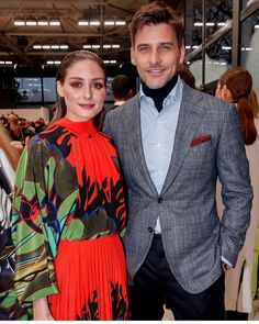 Olivia Palermo Lookbook, Olivia Palermo Style, Johannes Huebl, Stylish Couple, Ikon, Ideias Fashion, Ruffle Blouse, Chic, Couples