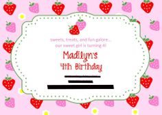 4th birthday invitations.