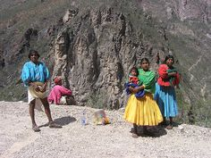 Tarahumara people -Few pre-Hispanic male clothing pieces survive since many Mesoamerican males went about nude or semi nude, causing Spanish authorities to force them to adopt European shirts and pants early. This early colonial style shirts and pants have changed little in indigenous communities and are now identified with indigenous groups, especially the Tarahumara in Chihuahua