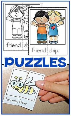 printable puzzles for preschool and kindergarten literacy centers