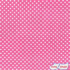 Double Gauze Pink Dot Quilt Fabric by Lecien's Colour Basic Collection