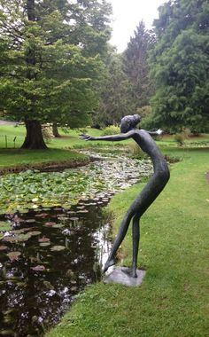 Dipping your Toe in! A sculpture in the Botanical Gardens, Dublin... A great day spent chasing squirrels and following streams!