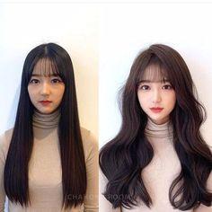 Korean Hairstyles Women, Redhead Hairstyles, Permed Hairstyles, Japanese Hairstyles, Asian Hairstyles, Men Hairstyles, Black Hair Korean, Korean Long Hair, Long Black Hair