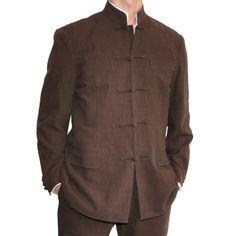 sinologie.com :: Veste de costume col Mao à brandebourgs en coton