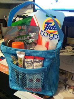 Teacher survival kit using Thirty-One Gifts Little Carry All! Great for a teacher gift! www.mythirtyone.com/carries31party OR carries31party@gmail.com