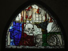 Markus Lüpertz: Window in Dance of Death Chapel, St. Marienkirche Lübeck (UNESCO WHS) | Flickr - Photo Sharing!