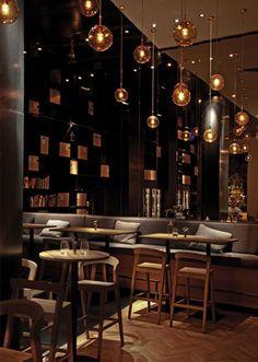 Restauranginredning inspiration. ZONA bar-restaurant | Interior Design Ideas, Modern Furniture Design - zaINTERIORA.net #restauranginredning #inspiration #restaurangmiljö