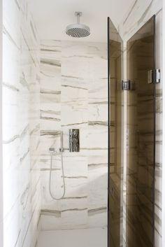 white marble bathroom #luxury bathroom #white interior originally pinned by Amberth Interiors