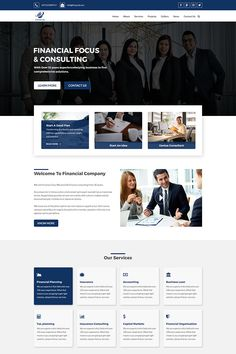 Financial - Business and Finance PSD Template, #Business #Financial #Finance #Template #PSD