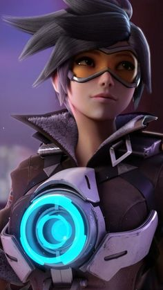 "Tracer in Hanamura - Overwatch fan art by Kevin Lumoindong ""My first attempt of using Vray… I was inspired by the lighting in one of the Overwatch Animation Shorts called ""Dragons"", so, as a Vray. Overwatch Tracer, Tracer Art, Overwatch Drawings, Overwatch Memes, Overwatch Comic, Game Character, Character Design, Tracer Cosplay, Overwatch Wallpapers"