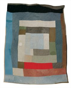 Loretta Pettway - Two-sided work-clothes quilt: Bars and blocks (1) - Master Image image 1